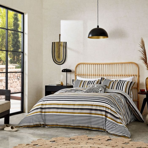 Rosita Grey & Yellow Striped Bedding