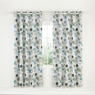Amalie Aqua Lined Curtains.