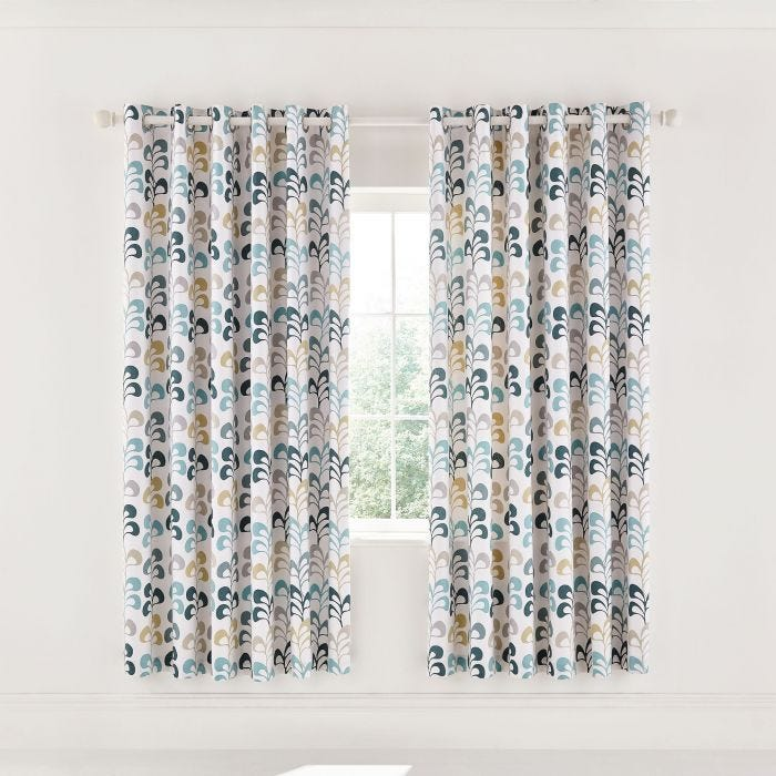 Liv Lined Curtains Teal