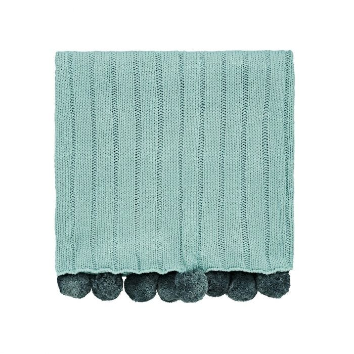 Liv/Tolka Knitted Throw Teal
