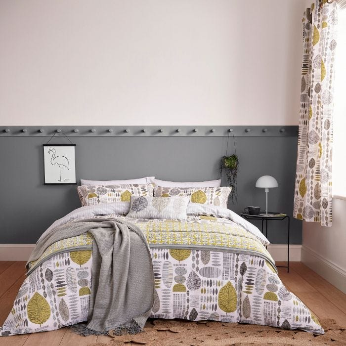 Leaf Pattern Bedding in Chartreuse