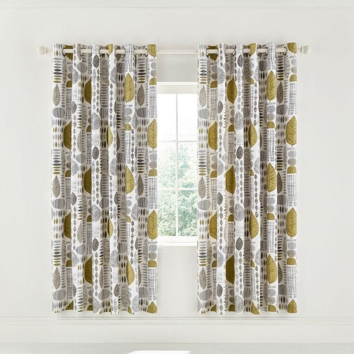 Unna Lined Curtains Chartreuse