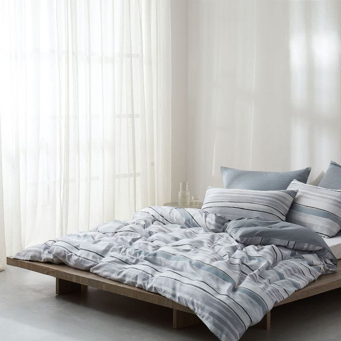 Linking Lines Bedding Mineral Grey