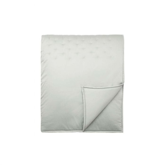 Stitched Quilted Throw Fogstone Green