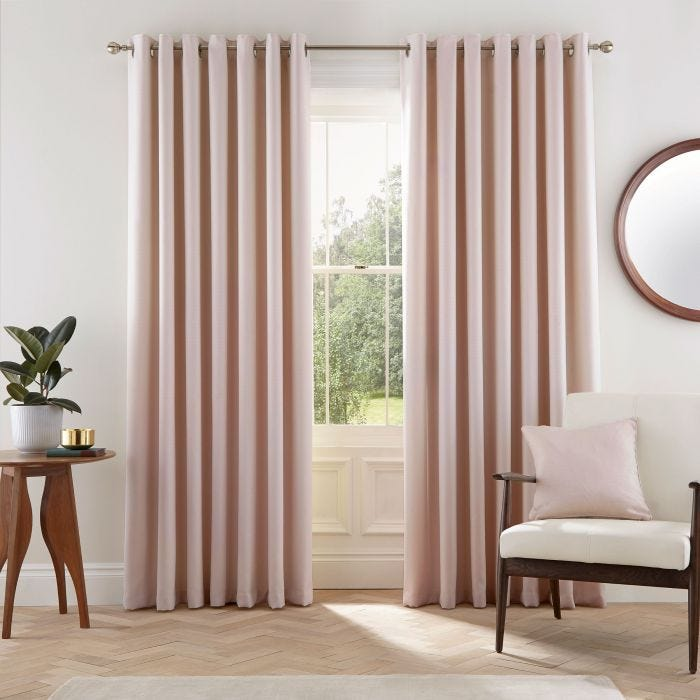 Eden Lined Curtains Blush