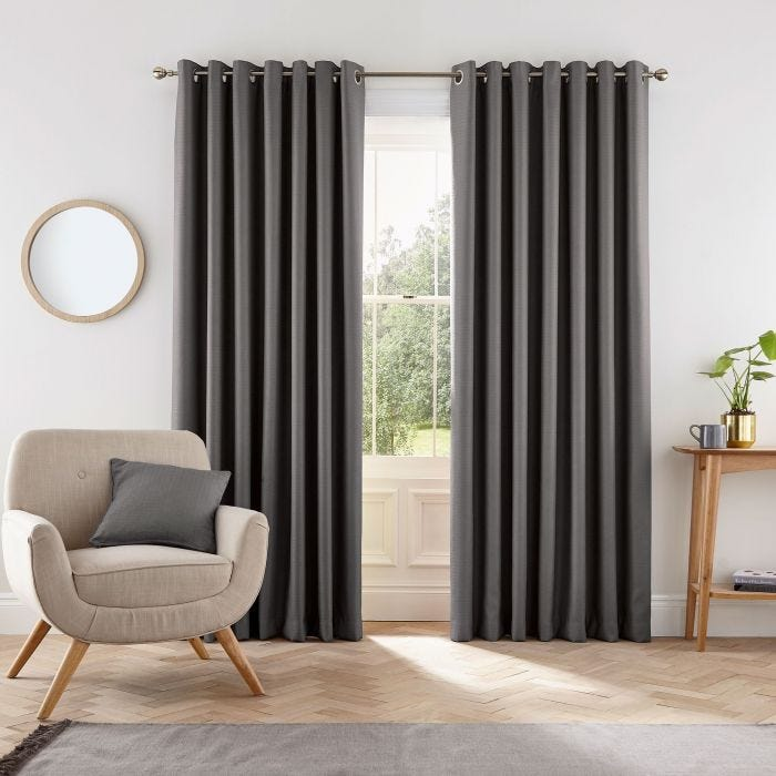 Eden Charcoal Grey Curtains