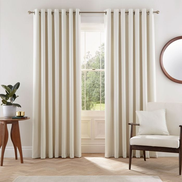 Eden Neutral Lined Curtains