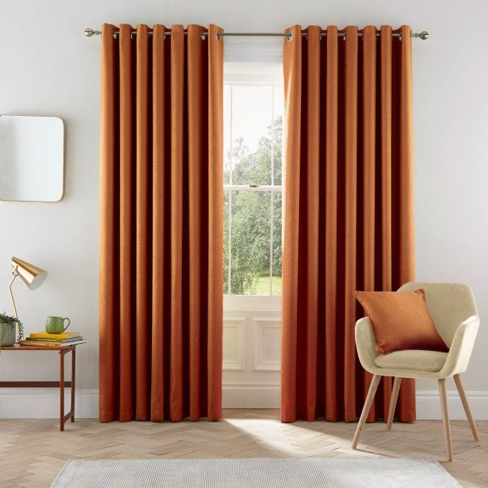 Eden Ginger Lined Curtains