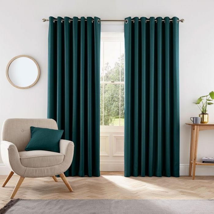 Eden Lined Curtains Teal