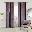 Escala Lined Curtains Damson