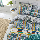 Menton Multi Coloured Check Bedding