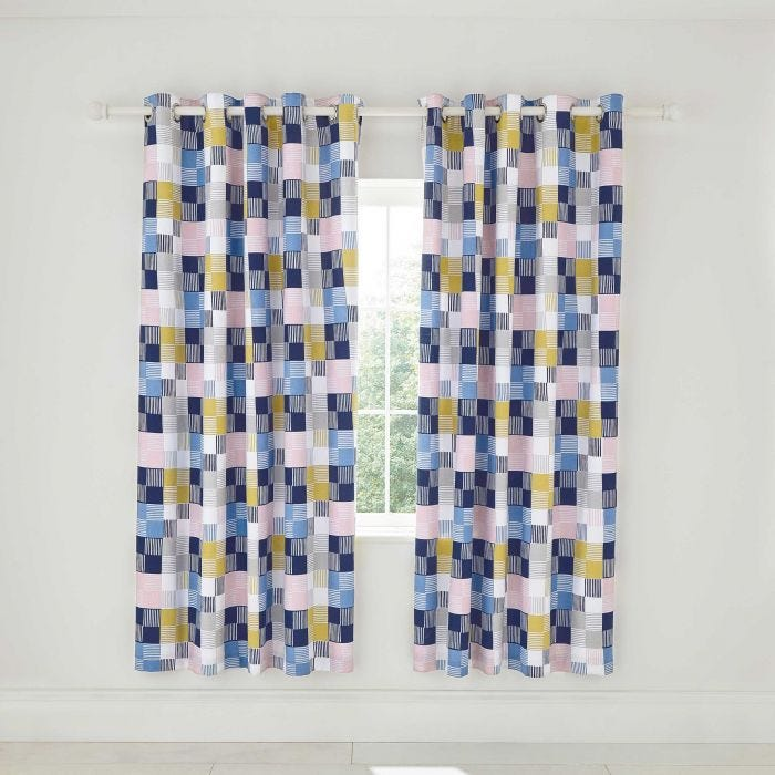 Cosmos Curtains Navy
