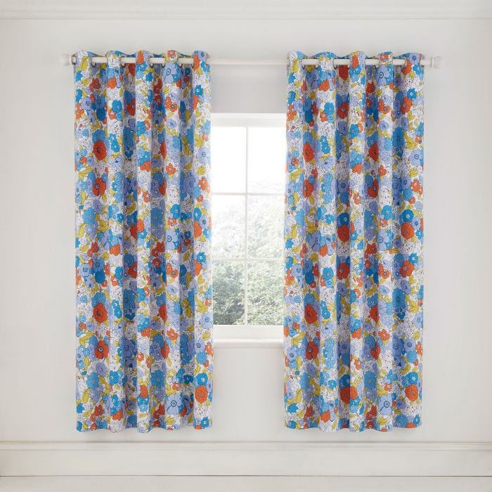Patsy Blue Curtains