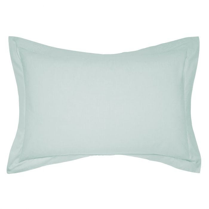 50/50 Plain Dye Percale Oxford Pillowcase Aquamarine