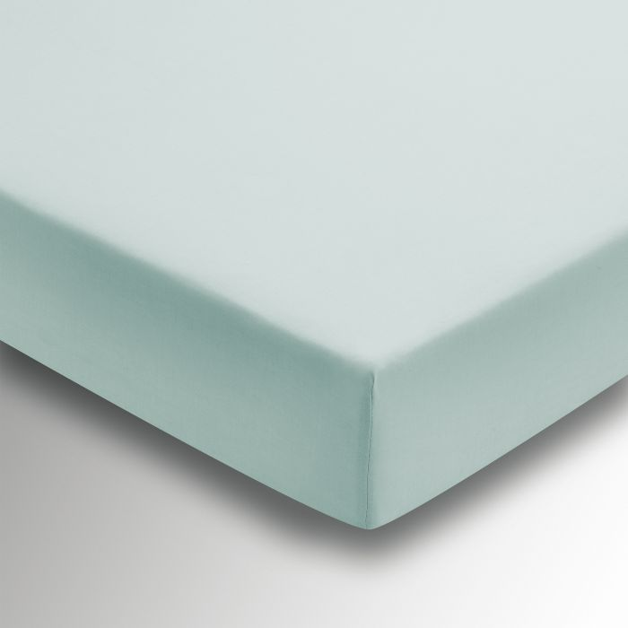 50/50 Plain Dye Percale Fitted Sheet Aquamarine