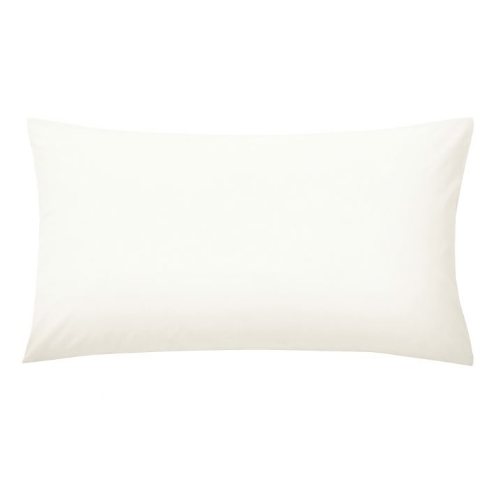 Plain Dye Percale Large Ivory Housewife Pillowcase