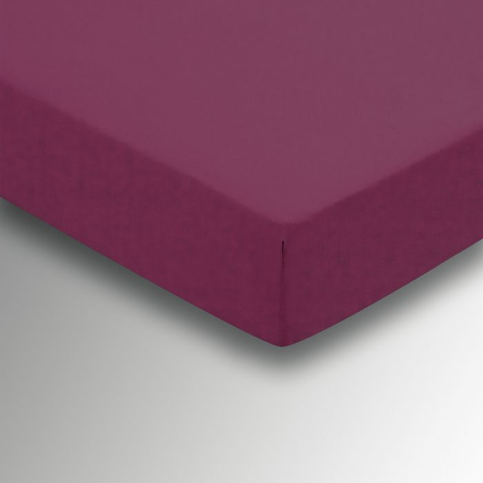 Plain Dye Percale Double Fitted Sheet