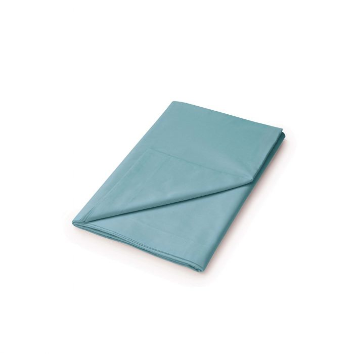 50/50 Plain Dye Percale Single Flat Sheet Ocean