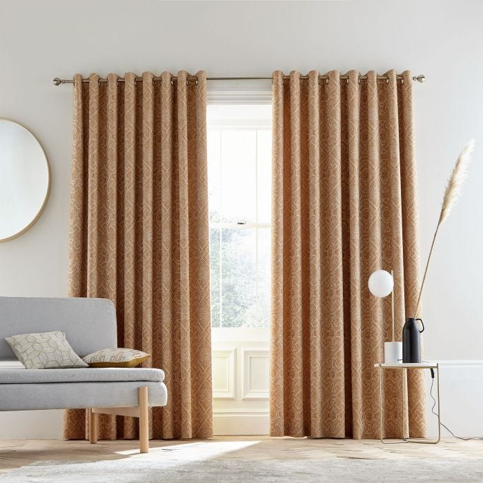 Agra Copper Lined Curtains