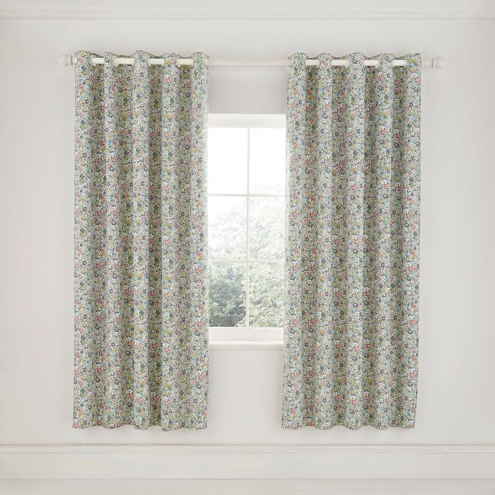 Dottie Lined Curtains Spring Green