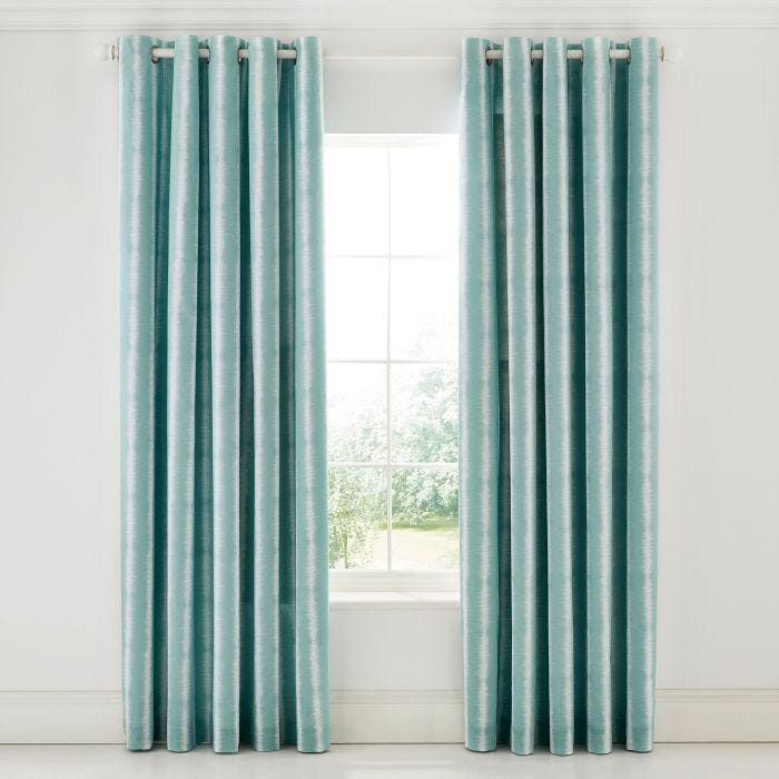 Aqua and Ivory Curtains by Scion