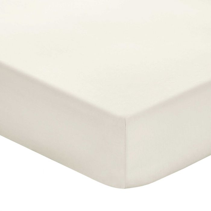 Plain Ivory Double Fitted Sheets