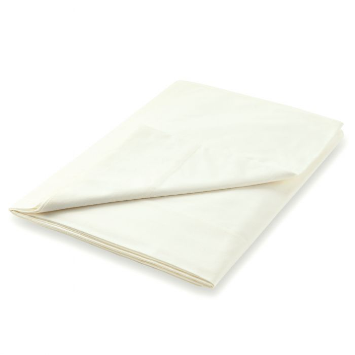 600 Thread Count Egyptian Cotton Single Flat Sheet, Ivory