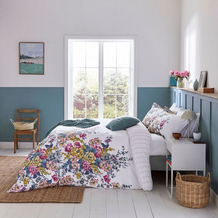 Joules Cambridge Floral Bedding in Creme