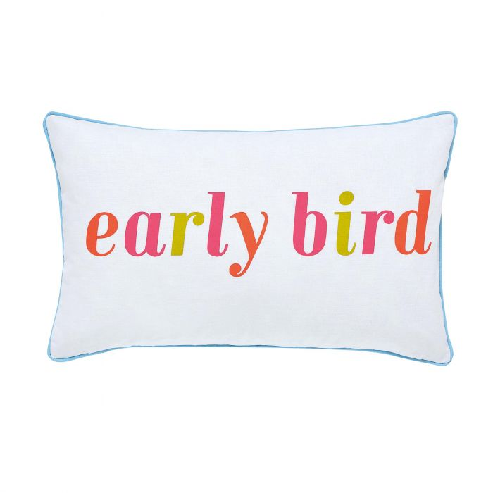 Early Bird Cushion French Navy Front