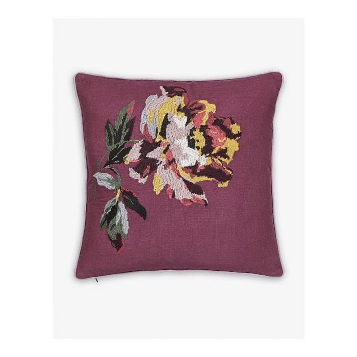Country Ramble Plum Check Cushion Front