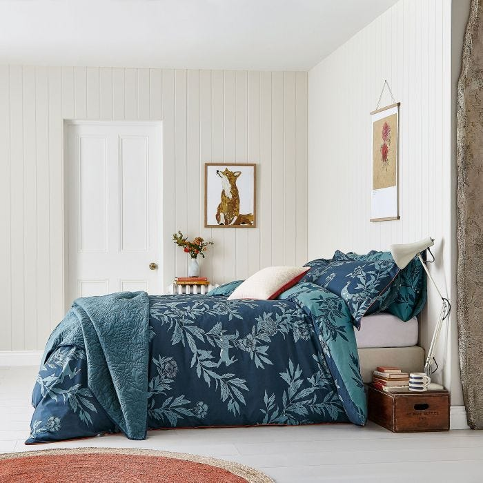 Navy & Teal Bedding, Joules Country Critters