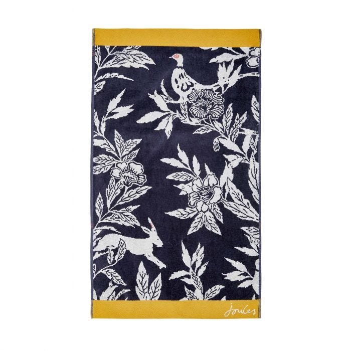 Country Critters Towels Navy