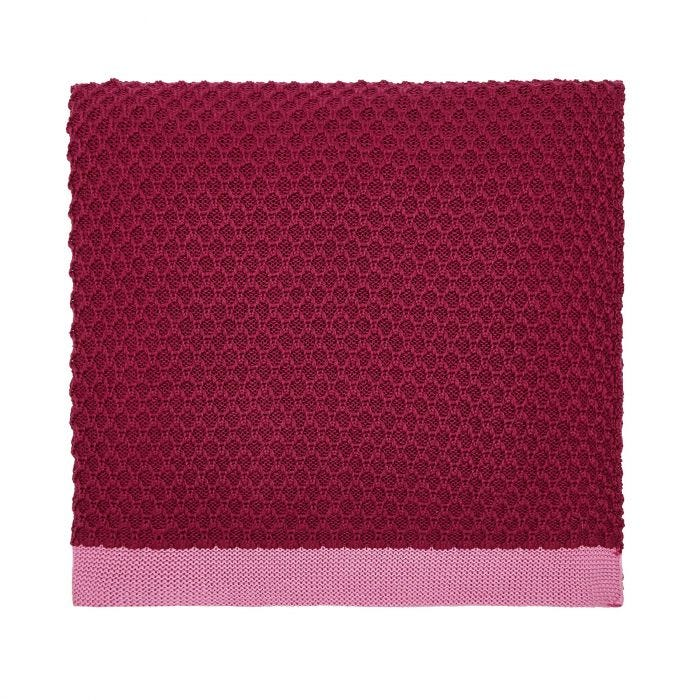 The Country Estate Knitted Throw Raspberry