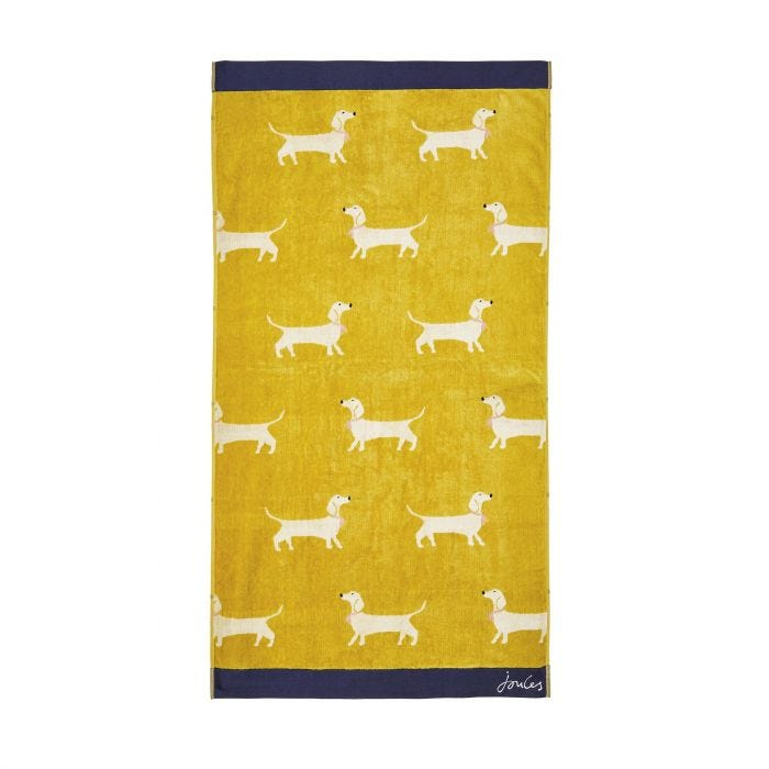 Sausage Dogs Towels Gold