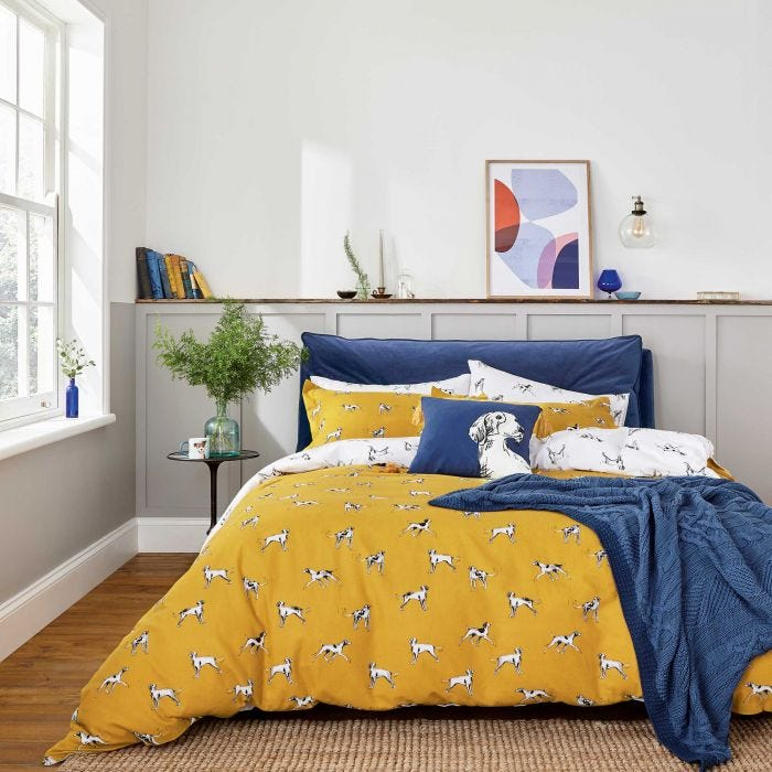 Sketchy Dog Print Bedding by Joules