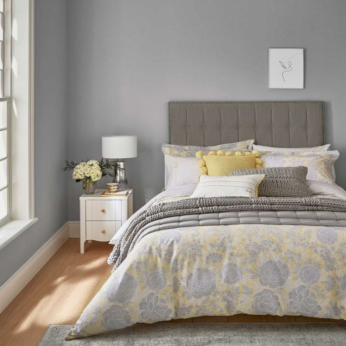 Reset Floral Bedding Yellow/Silver