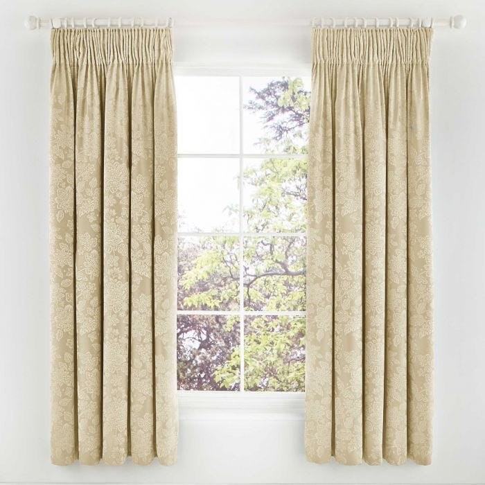 Lara Lined Curtains, Soft Gold