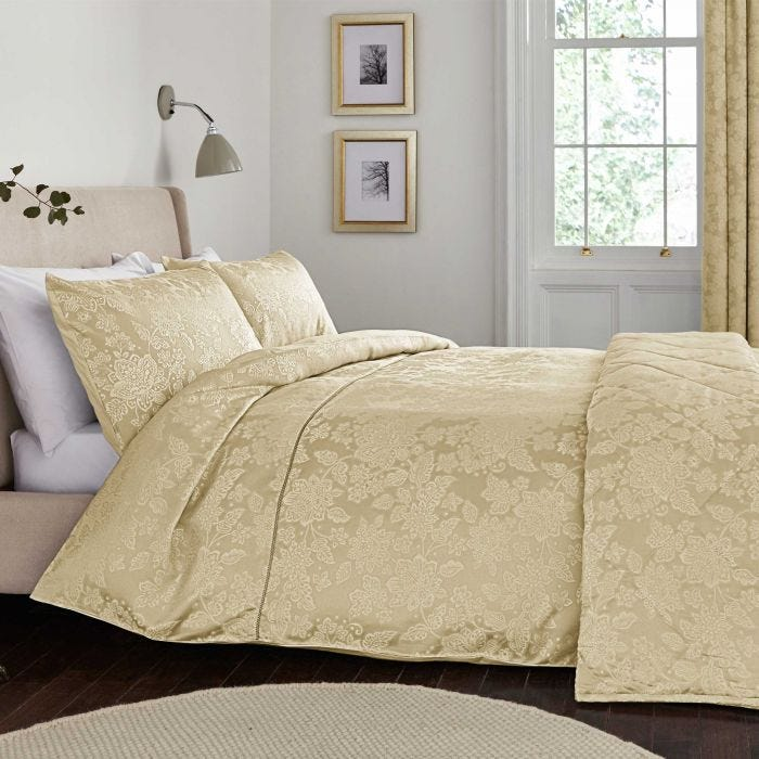 Lara Soft Gold Kingsize Duvet Cover