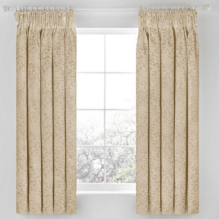 Rosie Lined Curtains, latte