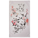 Sanderson Magnolia & Blossom Towels In Coral