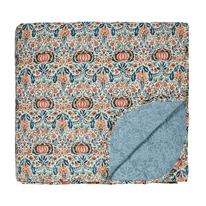 Little Chintz Teal Quilted Throw