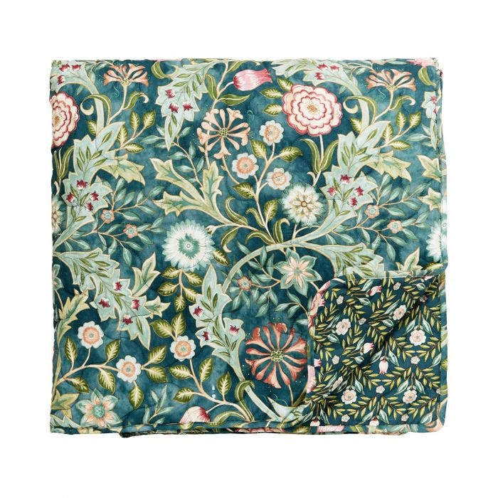 Wilhelmina Quilted Throw Teal