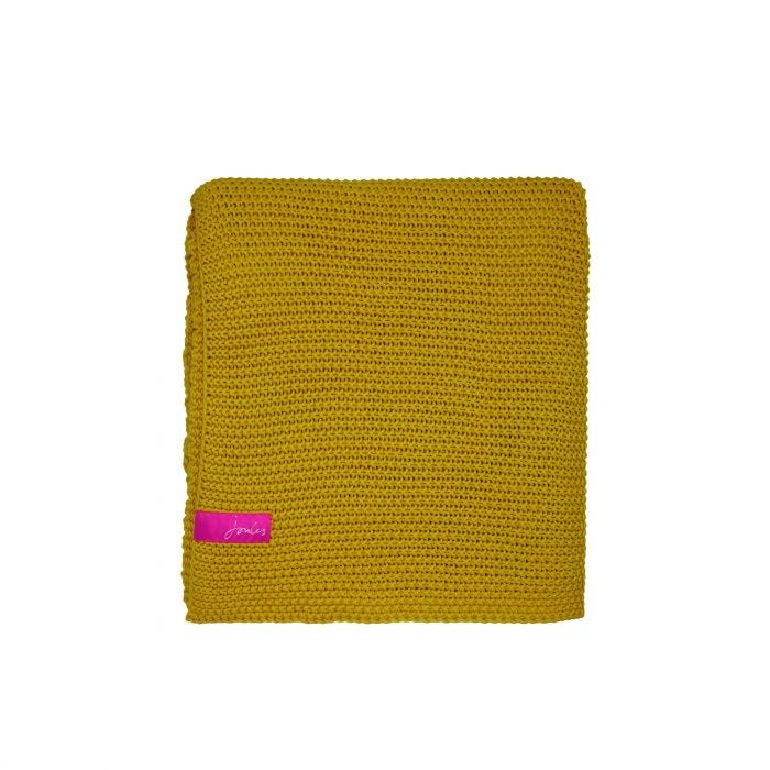 Moss Stitch Yellow Throw