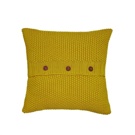Moss Stitch Yellow Cushion.