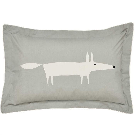 Mr Fox Oxford Pillowcase Silver