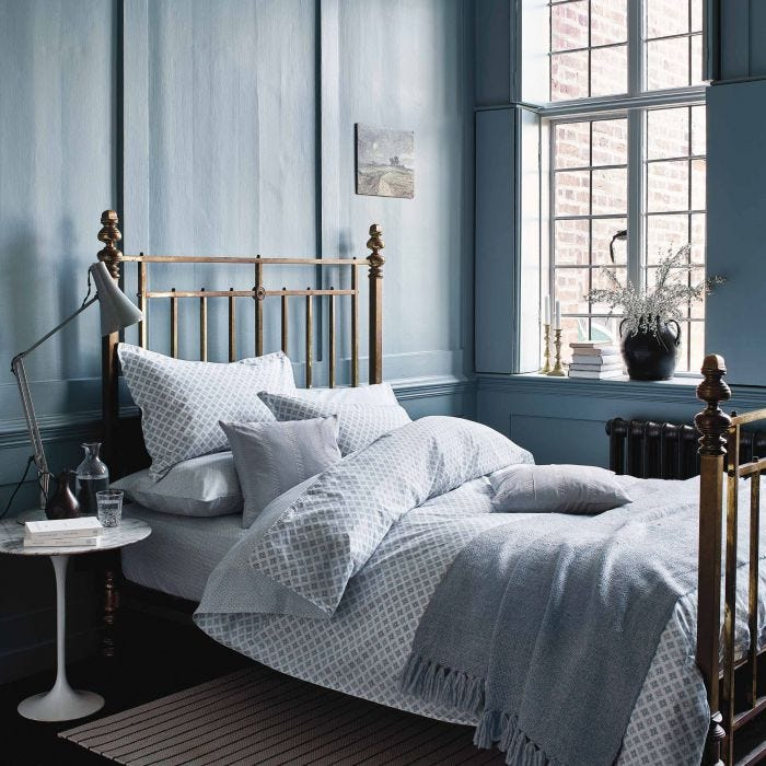 Mya Sky Blue Bedding