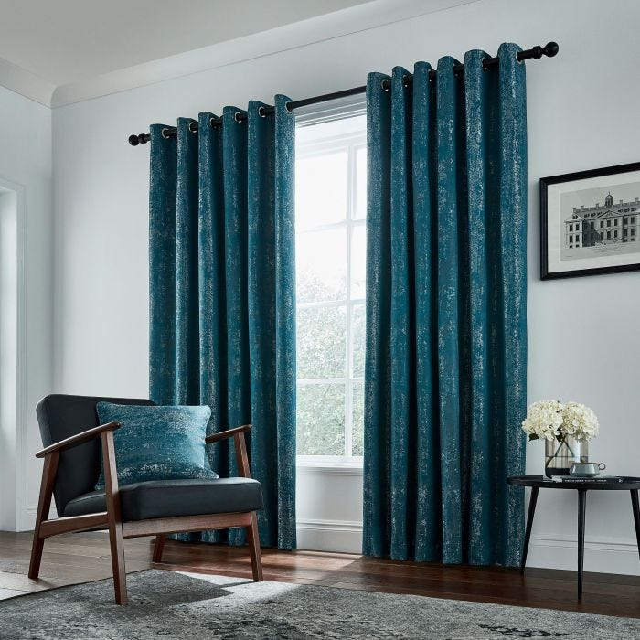 Roma Emerald Lined Curtains