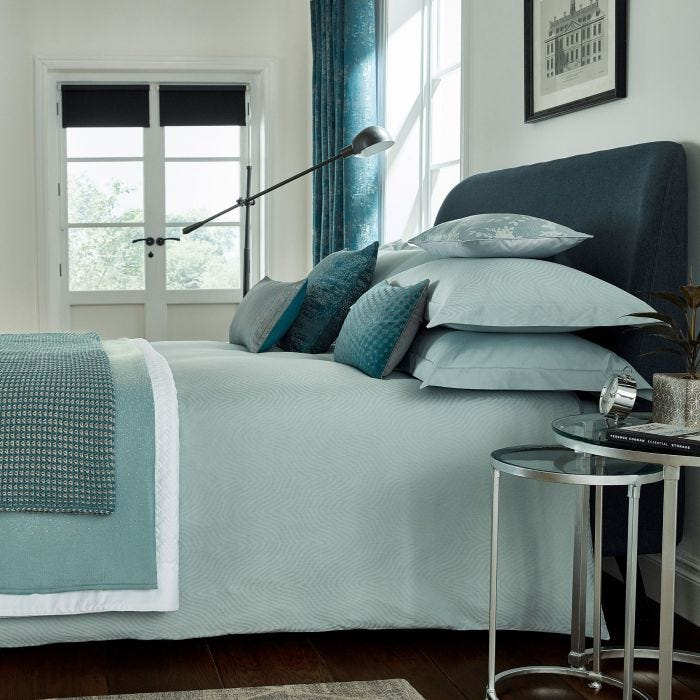 Luxury Hotel Style Bedding in Jade Green
