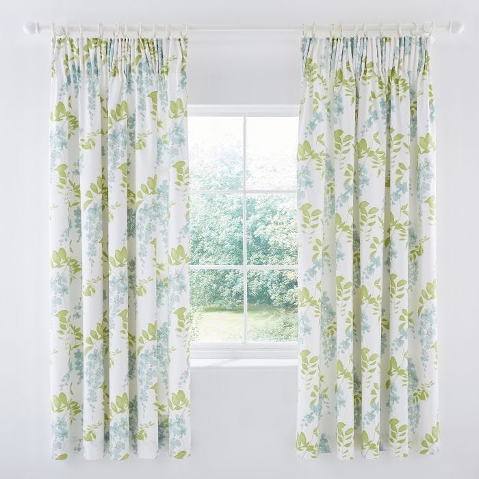 Wisteria Blossom Lined Curtains
