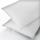 Sanderson Super Kingsize White Sheets, Fitted